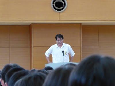 千葉県高体連会長であり、団長からの激励